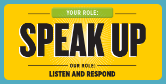Speak up when you know of or suspect unethical behavior.